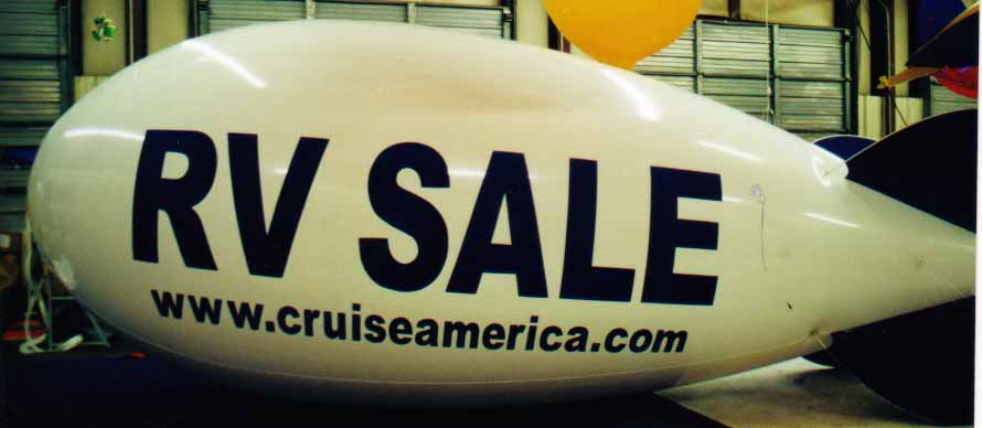 Advertising Blimp - RV SALE logo